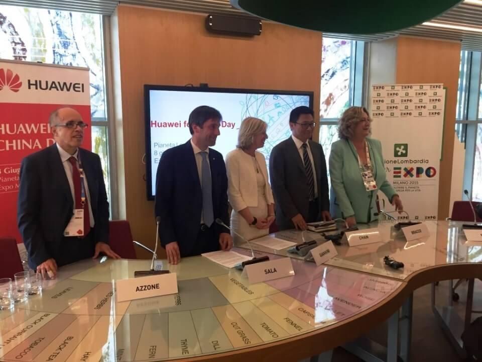 inrete evento expo 2015 Huawei con Ministro Giannini